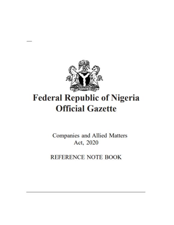 Companies and Allied Matters' Act, CAMA 2020